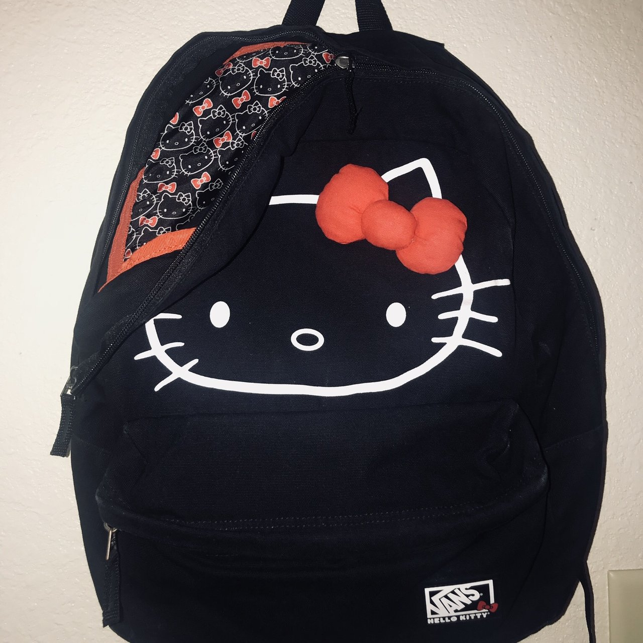 881850d79c0a Hello kitty vans backpack. Used just needs a little - Depop