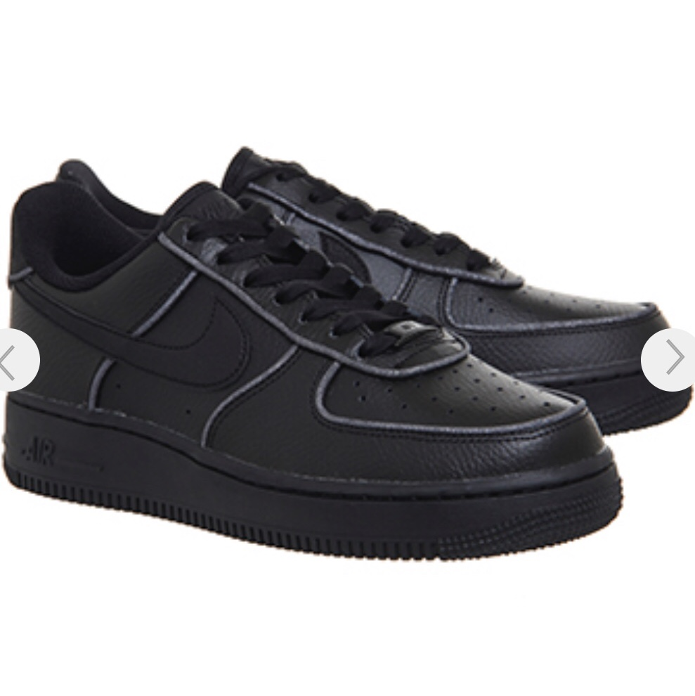discount sale utterly stylish 50% price Office Nike Air Force 1 07 Black Black White... - Depop