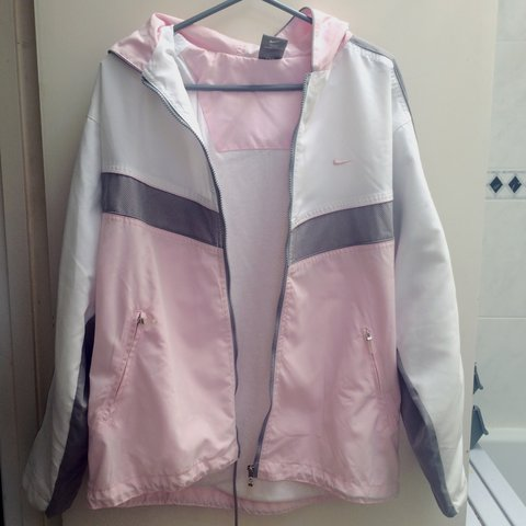 magicbunny. 3 years ago. United Kingdom. Baby pink and grey retro Nike  jacket dd52b1c5a