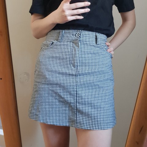 d2a6dc765689 @magicbunny. last year. Portsmouth, Portsmouth, United Kingdom. Brandy  melville 'juliette' gingham mini skirt • one size ...