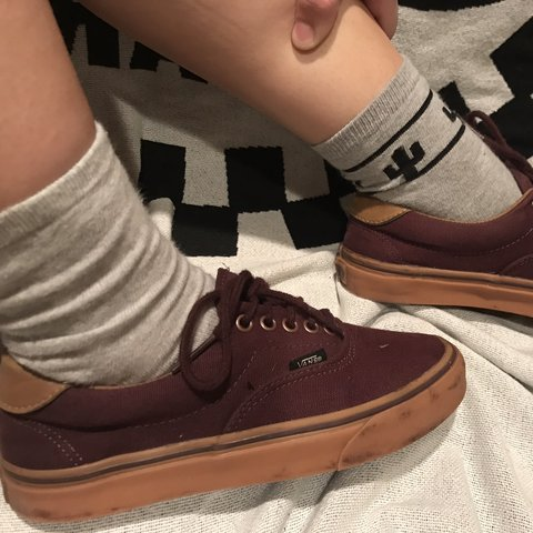 b352172642b VANS Era 59 Burgundy and Gumsole Men s 6.5