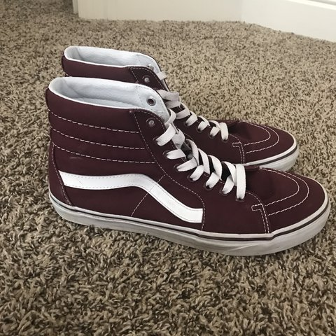 a0940d71d44d maroon high top vans. bought them for  50 at pacsun but i of - Depop