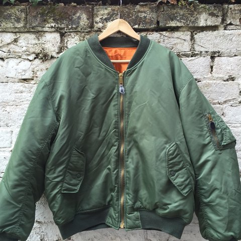 81f35b0691 Vintage Olive green bomber jacket from MFH int. Company. and - Depop