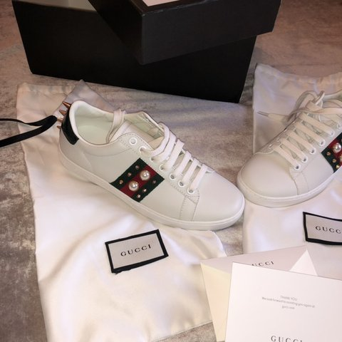 @el_griffith. 4 days ago. Neston, United Kingdom. Gucci ace studded sneaker  .