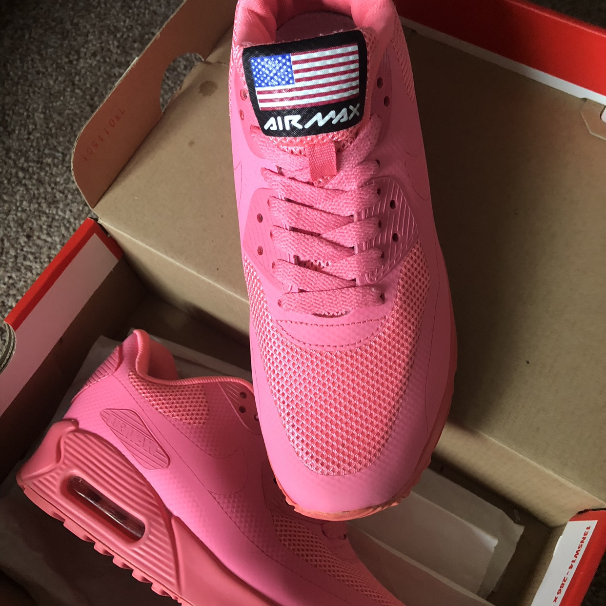 Nike Air MAX 90 Hyperfuse Bright Neon Pink USA Depop