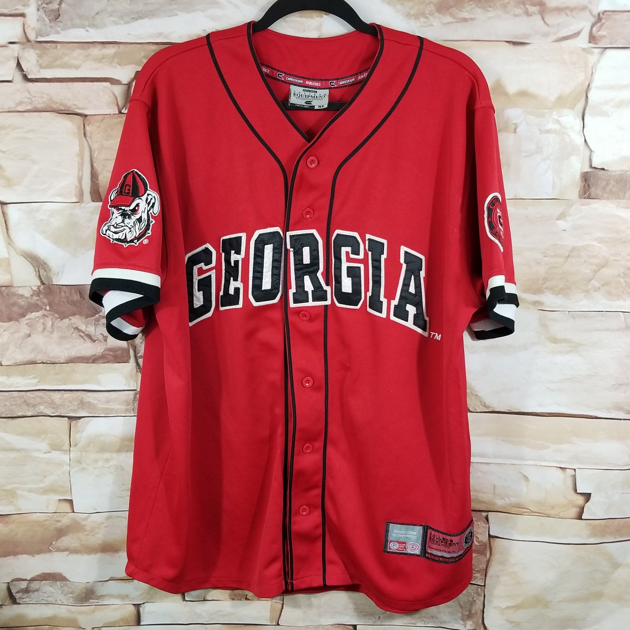 100% authentic 86bca 2d2bc Georgia Bulldogs baseball Jersey embroidered 33... - Depop