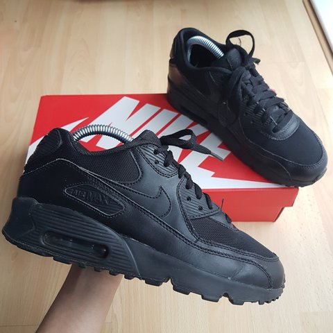 e39162f323 Triple black Nike Air Max 90! UK 5.5 (can probably fit 5 for - Depop