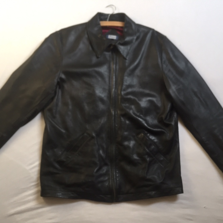 Austin Reed Leather Jacket Great Condition Depop