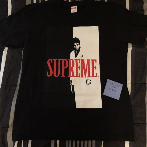 73822850b7ab Supreme Scarface Split Tee ❌final drop❌ RARE TEE Item is - Depop