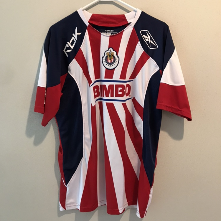 on sale 6ad0a f1443 Official Reebok Chivas jersey. No name on back.... - Depop