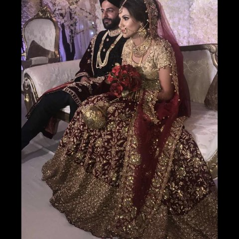 cfd26eefb6 @zeenamusaa. 3 months ago. United Kingdom. Bridal lengha for sale. Self  designed. Size 8. Wore the once ...