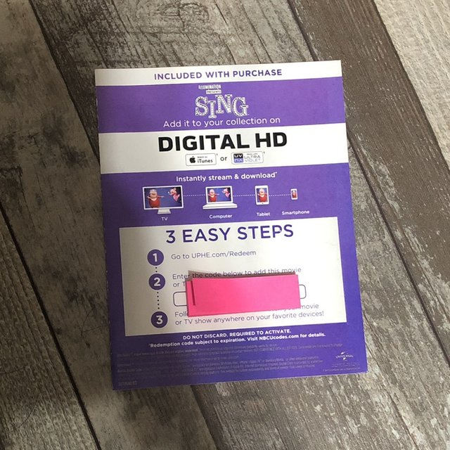 sing Digital movie code! - code will be sent via    - Depop