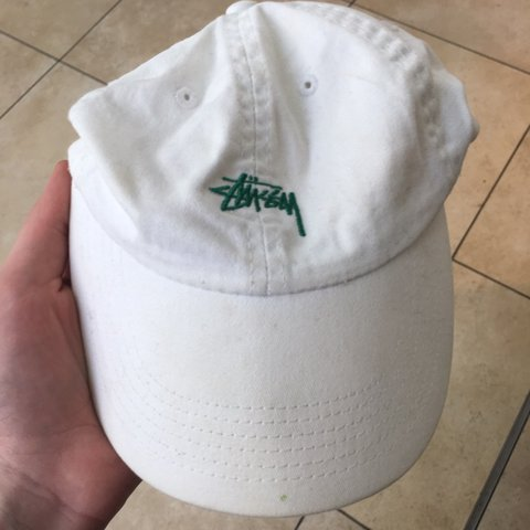 ac253de28078e Stussy hat green embroidered 7.5 10 condition Cheap shipping - Depop