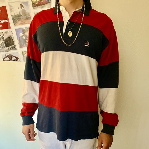 f612b2e27 Authentic vintage Tommy Hilfiger long sleeve polo shirt. and - Depop