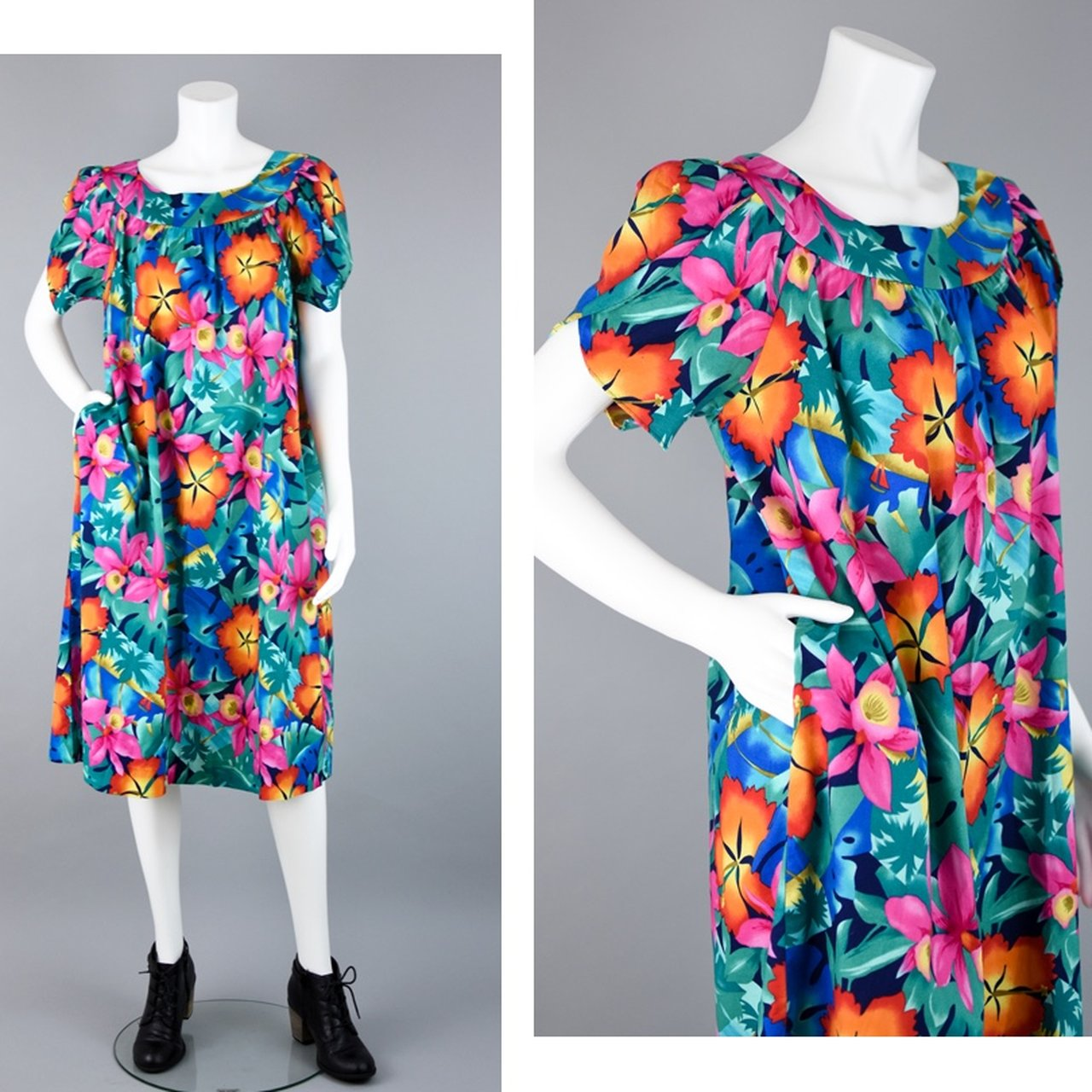 08ddccce43be This beautiful mod #floral #muumuu is easy to fall in love a - Depop