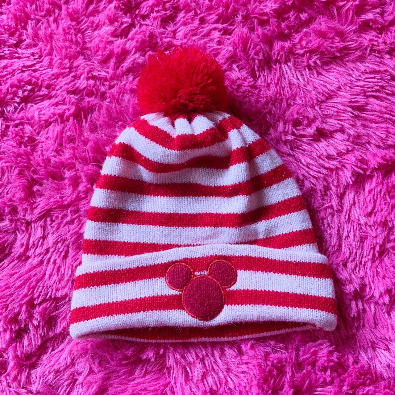❤ 💗Vintage Pink Mickey Mouse Beanie💗❤ Super adorable     - Depop 842c476f1281