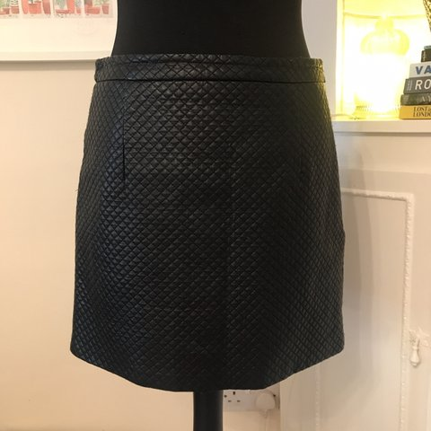 d7eb9c4b03 @berryboots. 4 months ago. Berkhamsted, United Kingdom. Faux Leather A line  mini skirt with quilted ...