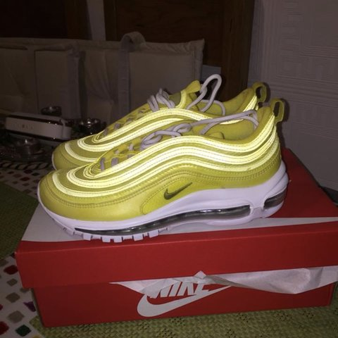 online store 2dd24 a7501 Nike air max 97s (GS), UK size 5, in lemonade colour, never - Depop