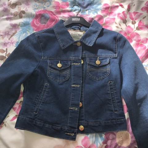 b0fccc8bd0c Royal blue cropped denim jacket! Perfect condition never 12 - Depop