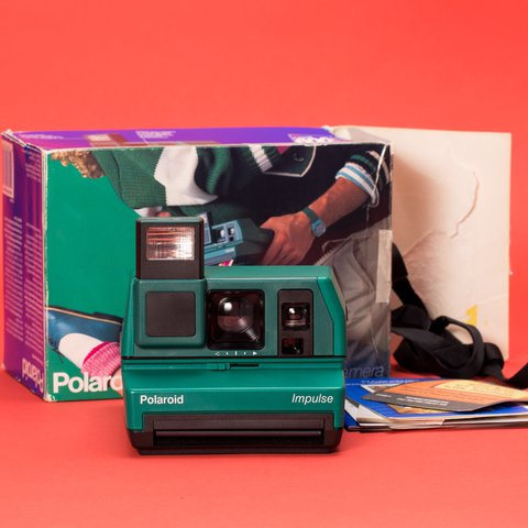 Green Polaroid Impulse AF Instant Film Camera W  Original a - Depop fd565cf0f6a7