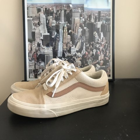 8145ea5b83 🐪 Madewell x Vans Camel Colorblock Old Skool Lace-up Size 5 - Depop