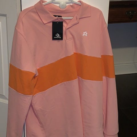 a51b39474be3 Golf Le fleur pink and orange polo Never worn Size XL - Depop