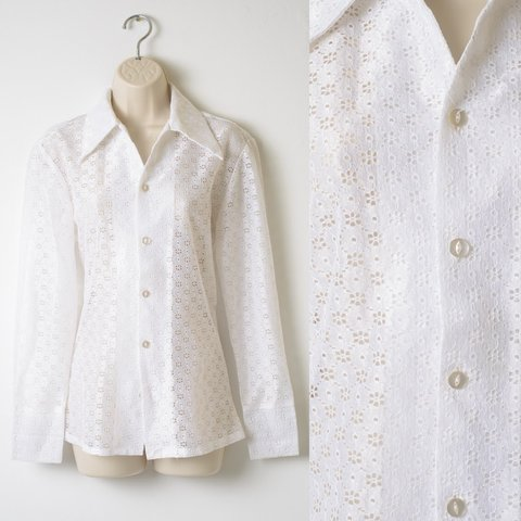 6634aa8ffbe298 @trendyhipbuys. 8 months ago. Los Angeles, United States. Vintage White  Lace Blouse ...
