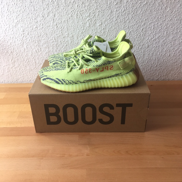 Adidas Yeezy Boost 350 V2 Frozen Yellow Size US9 Depop