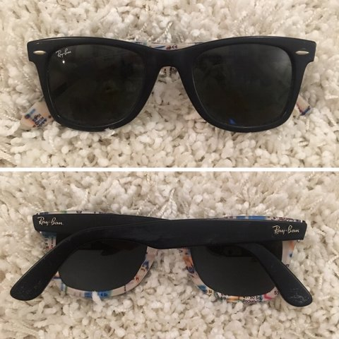 b5a4212ccd Ray-Ban Wayfarer  NYC Subway  Rare Print series small at at - Depop