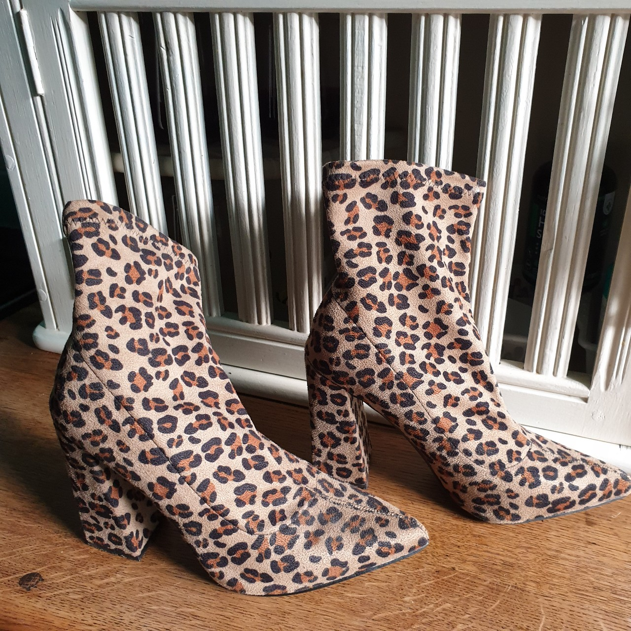 BOOHOO LEOPARD PRINT POINTED SOCK ANKLE