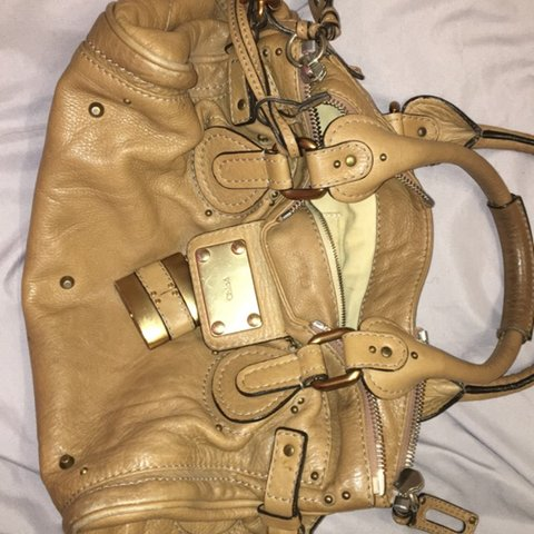c4892c403a0 Chloe original bag, tan, quite old and hasn't been used in a - Depop