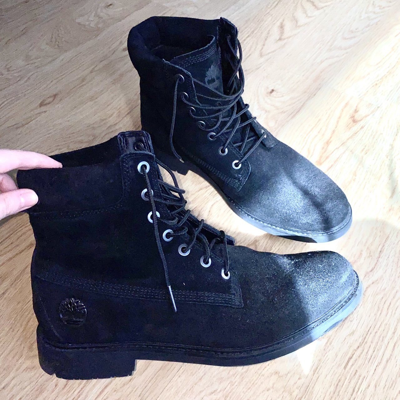 MENS SLIM TIMBERLAND BOOTS IN BLACK