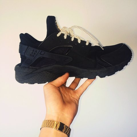 new style 3f530 ff2e4  chriswright98. 2 years ago. Bury, UK. Triple black nike air huaraches with  3m ...