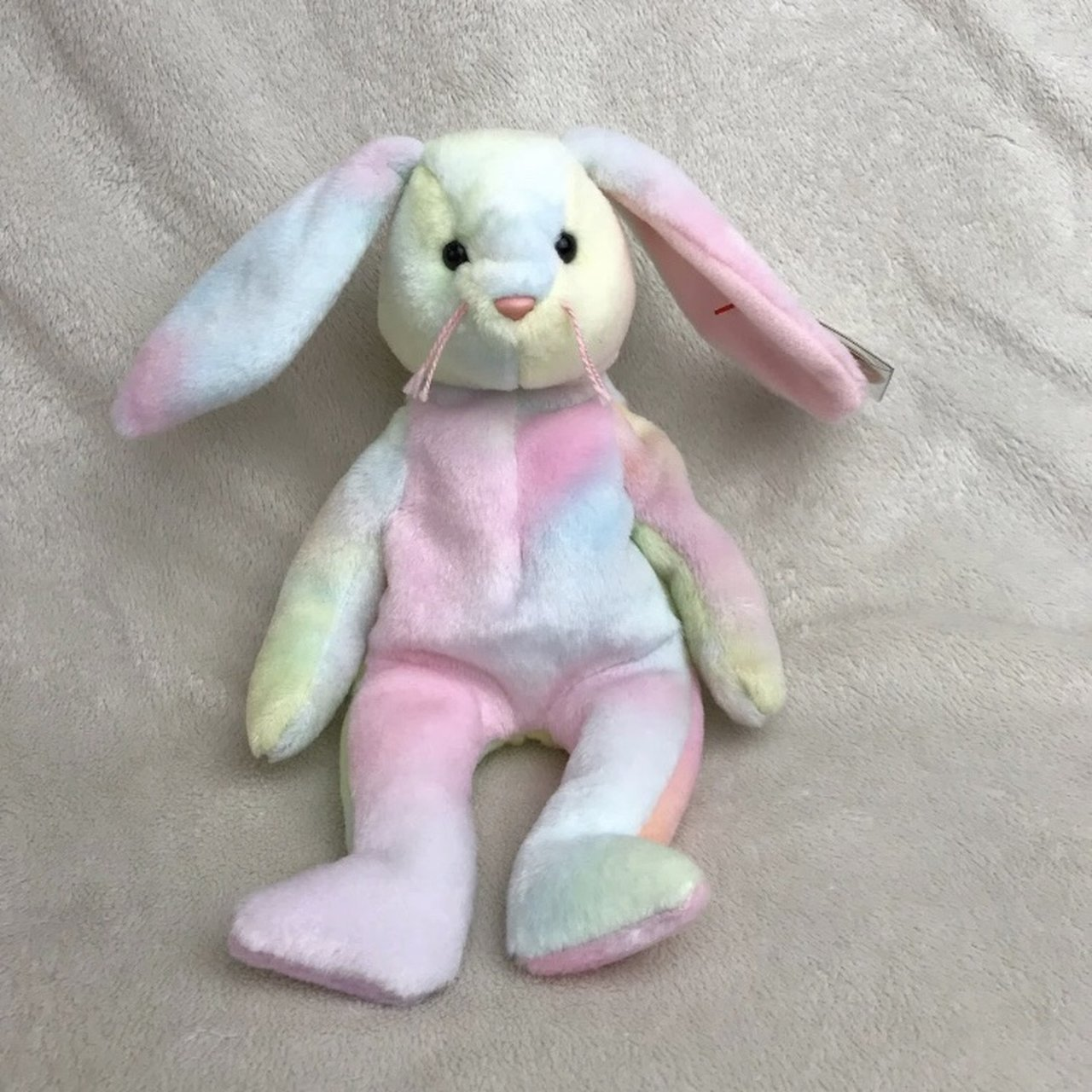 0595c7dfcf1 Adorable Ty Beanie Babies tie dyed Easter bunny Hippie. Has - Depop
