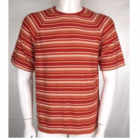 32eef357ad83 90's vintage Guess red orange striped shirt * cop this cuz - Depop