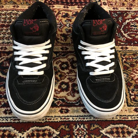 47ca62c1bf Vans Half Cab Pro Skate shoe Black White Ultracush Men s - Depop
