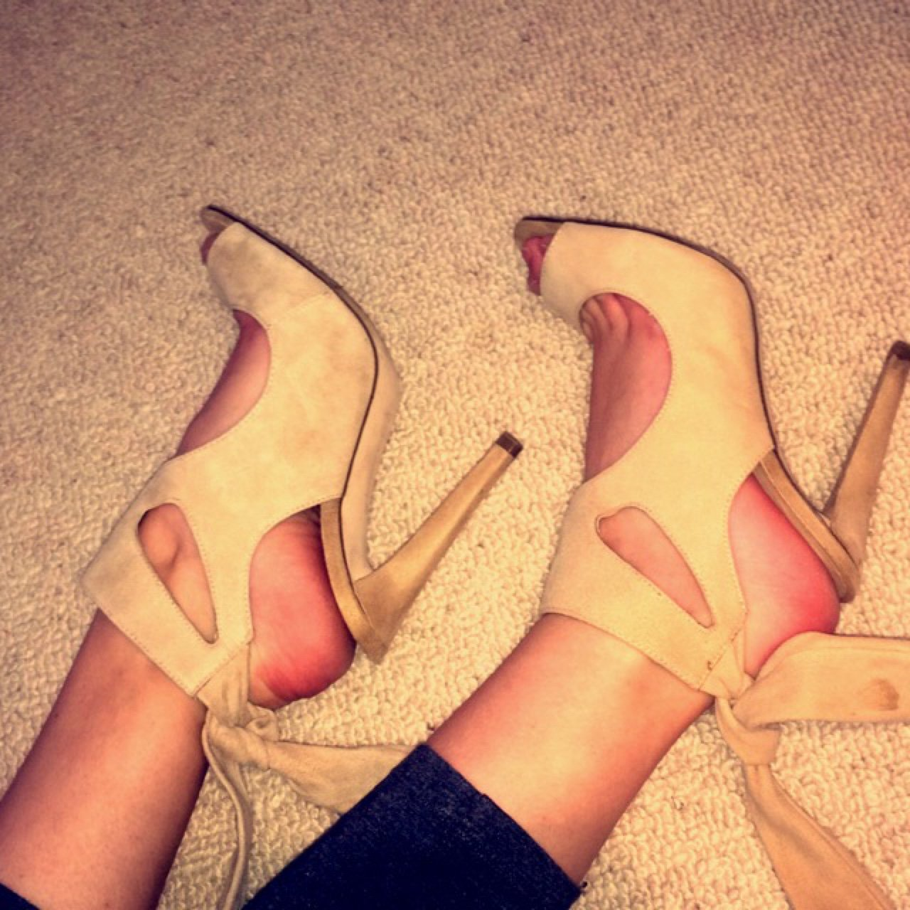 6dd33773d1408 @olivia_reid93. 3 years ago. Kent, UK. Zara cream suede tie up heels. Worn  once for a wedding. Very chic ...