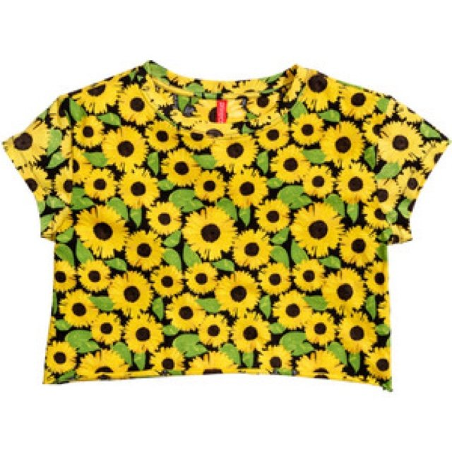 e0061bbb Size small sunflower crop top from h&m 😊🌻🌻🌻 depop eBay h - Depop