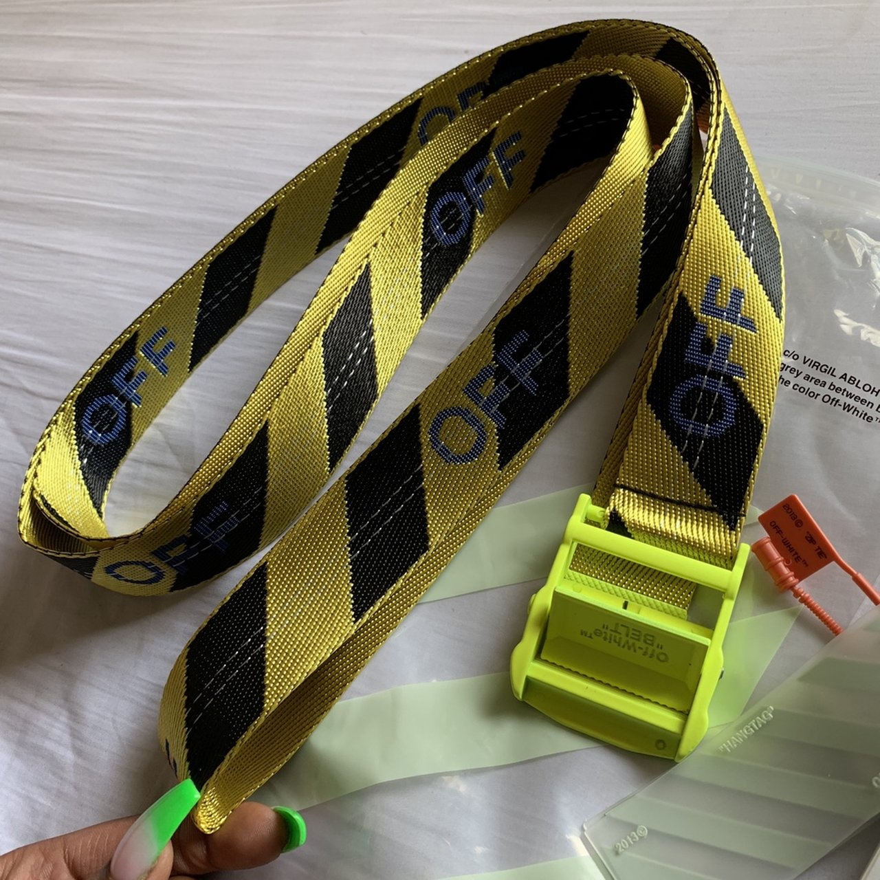 b308708cb85 Off-White industrial belt Selling my exclusive OFF-WHITE - Depop