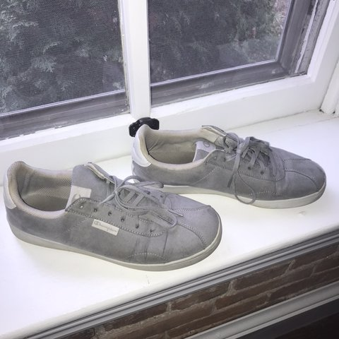 af5505a24cd Grey champion casual sneakers Slightly worn Women s size 11 - Depop