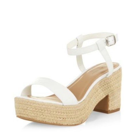 08d26b39c2 @lucycostain. 3 years ago. Liverpool, United Kingdom. Chunky strappy block  heel sandals from new look size 6. Worn once. Perfect condition!