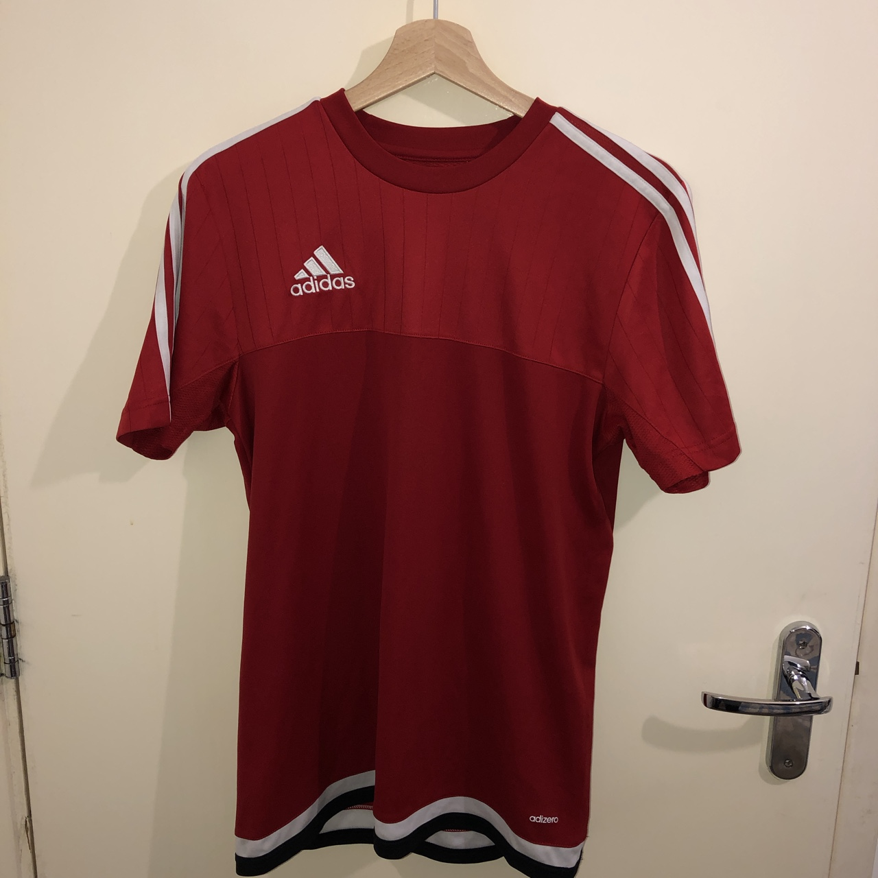 later competitive price limited guantity Adidas climacool t-shirt in red. Mens size small.... - Depop