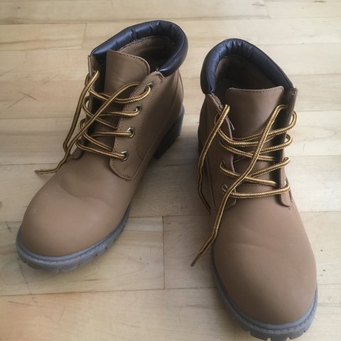 9e3ca7ebd1fa0 Brand new timberland style boots from Penneys Primark. No to - Depop
