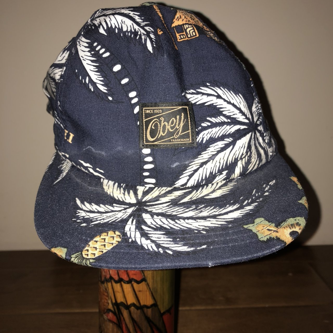 d0308f3dac2 Obey adjustable surf hat!! Sick floral tropical design. hat - Depop