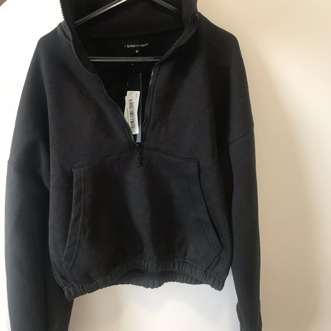 e635d13df0c2 I saw it first black cropped zip up sweater. Identical to   - Depop