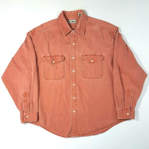 f182943b8fa7 Vintage L.L. Bean Men s Button-Front Shirt Size XL Reg. In 2 - Depop