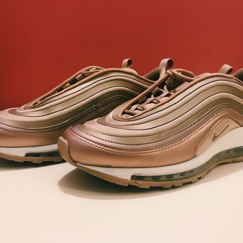 3b10608256 nike air max 97 rose gold size 5 Nike Air Max '97 Ultra X rose gold X size  5 bullets brand of - Depop