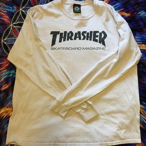 f3852a766c0f @manderp_143. 6 months ago. Olympia, United States. faded white Thrasher  long sleeve shirt