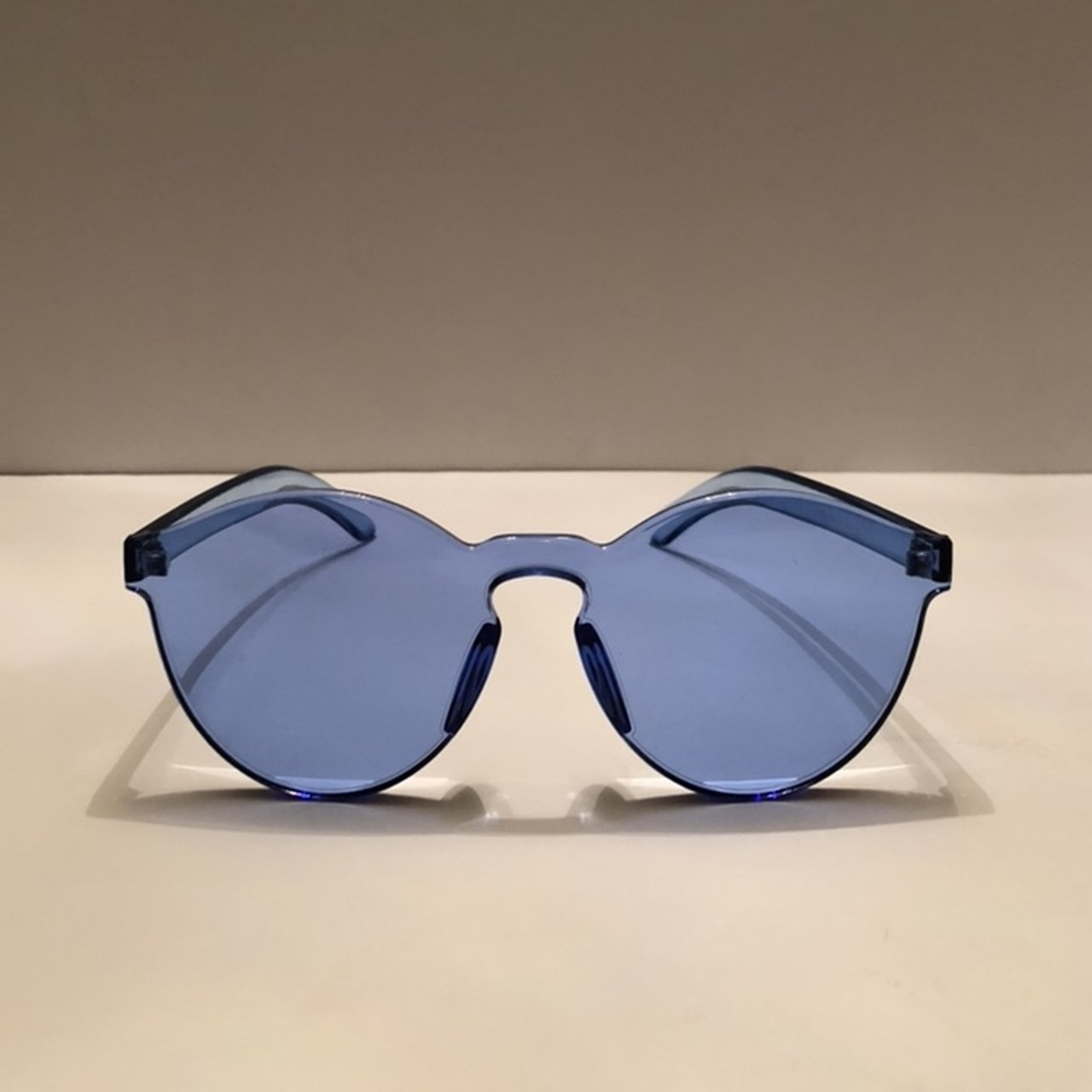 85e4dc20153 Candy cat eye blue sunglasses UVB protection  ~~FREE on 2 - Depop