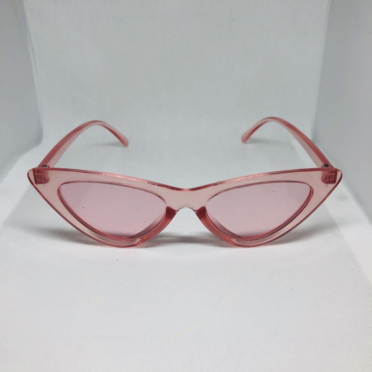 6708ceddb6962 Cat eye sunglasses. Transparent pink lens and... - Depop